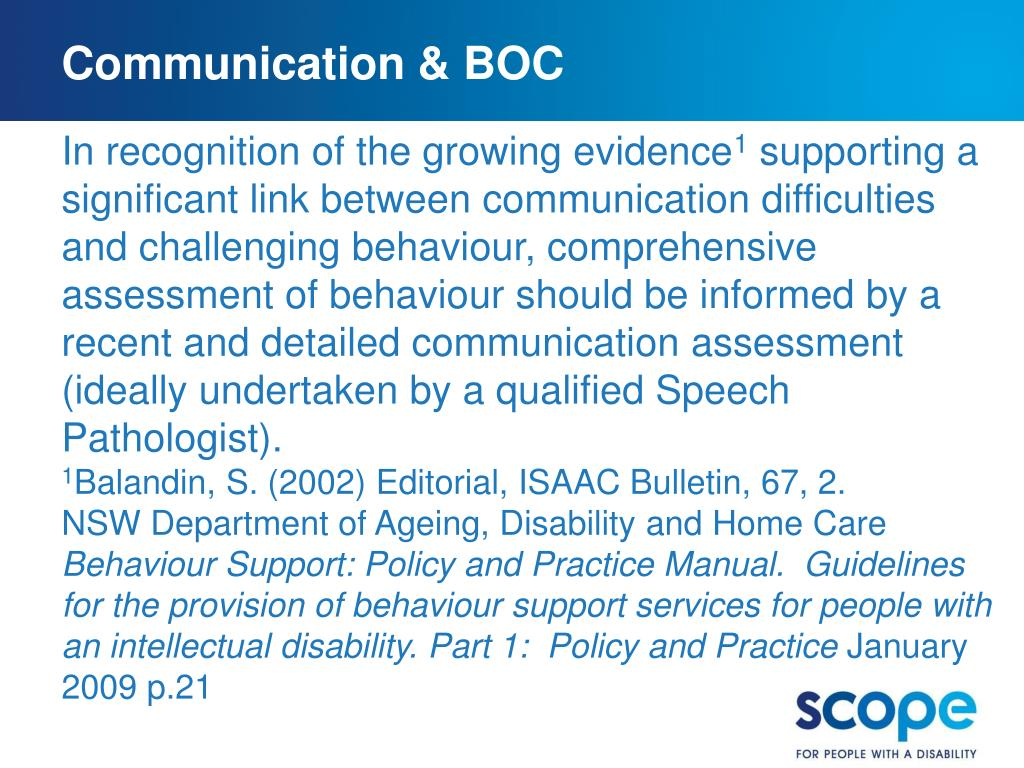 Communication & BOC