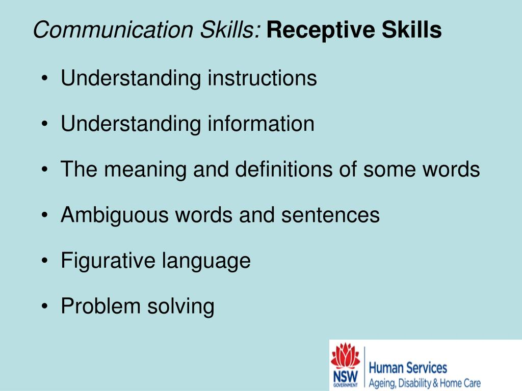 Communication Skills: