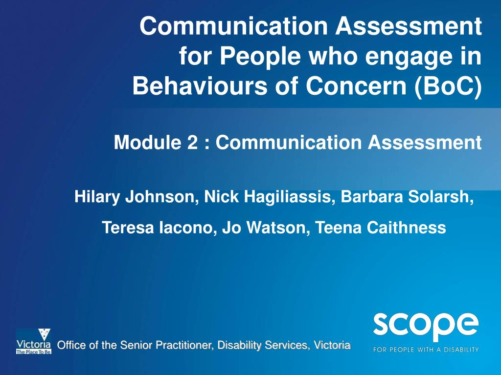 Communication Assessment