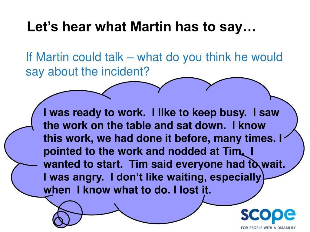 Let's hear what Martin has to say…