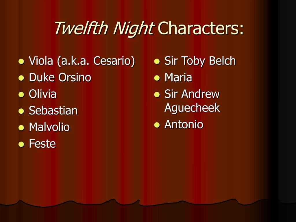 an analysis of the character viola in twelfth night by william shakespeare Text analysis for production: twelfth night  both sebastian and viola shakespeare in twelfth night chooses to  shakespeare, william twelfth night,.