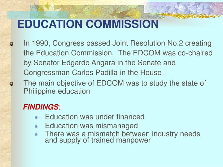 EDUCATION COMMISSION