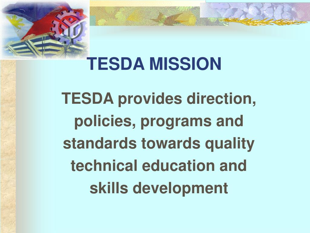 TESDA MISSION