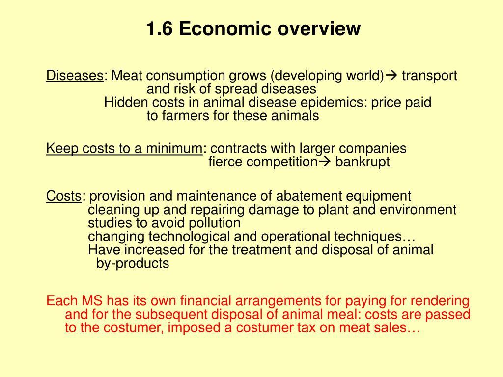 1.6 Economic overview