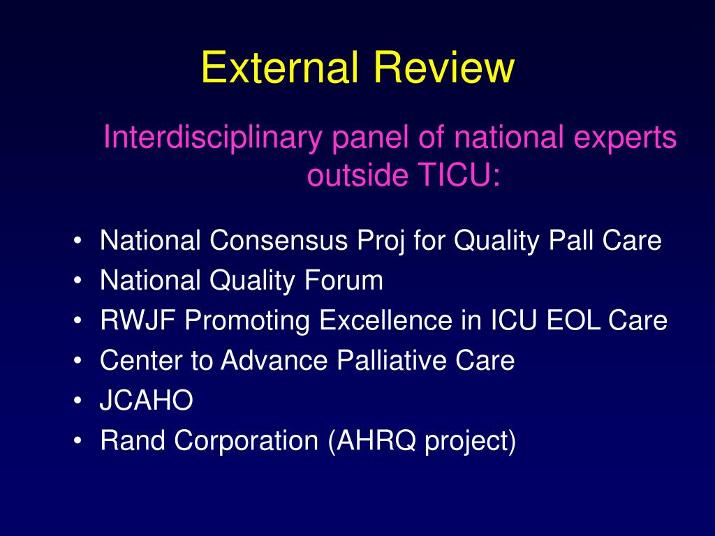 External Review