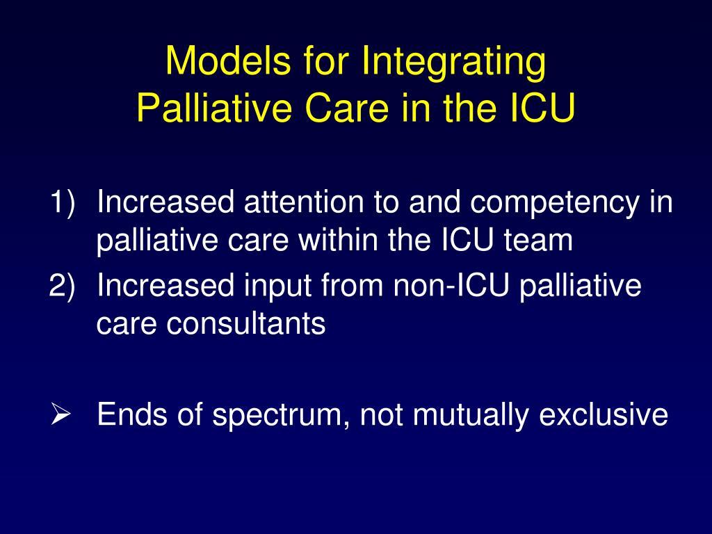 Models for Integrating