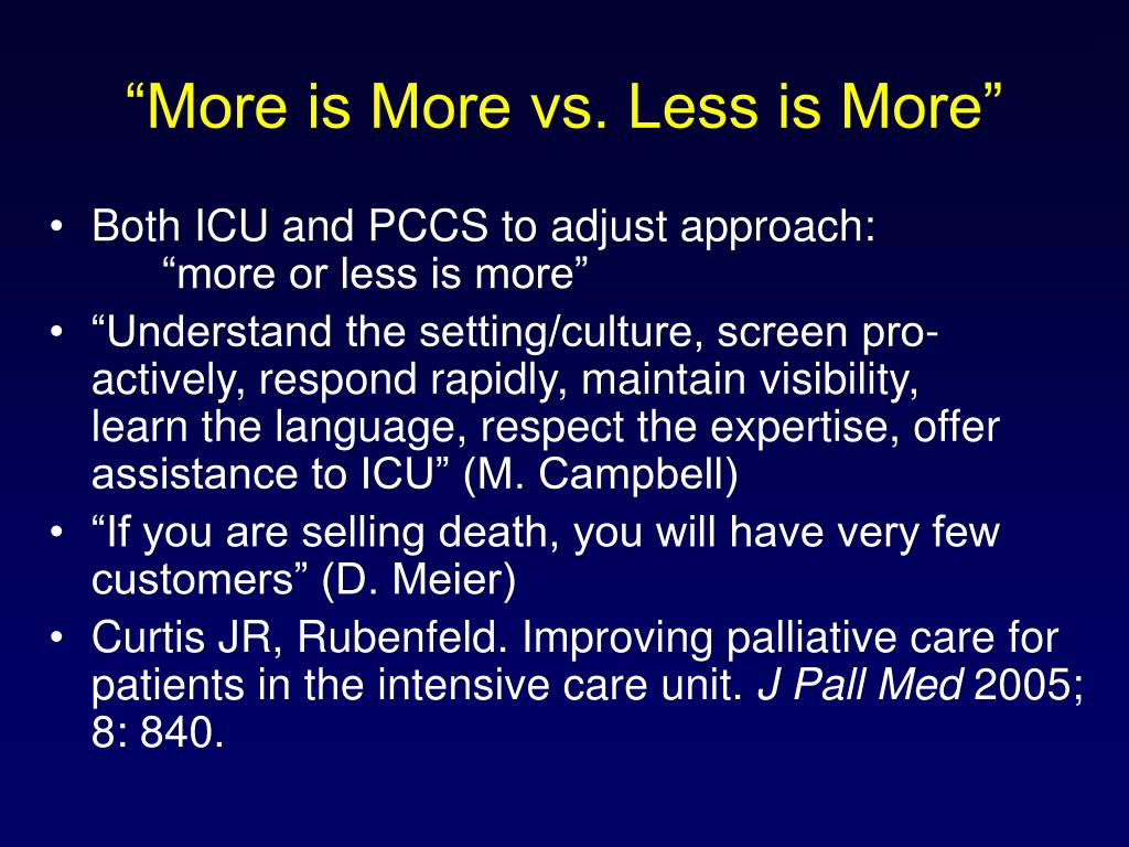 """More is More vs. Less is More"""