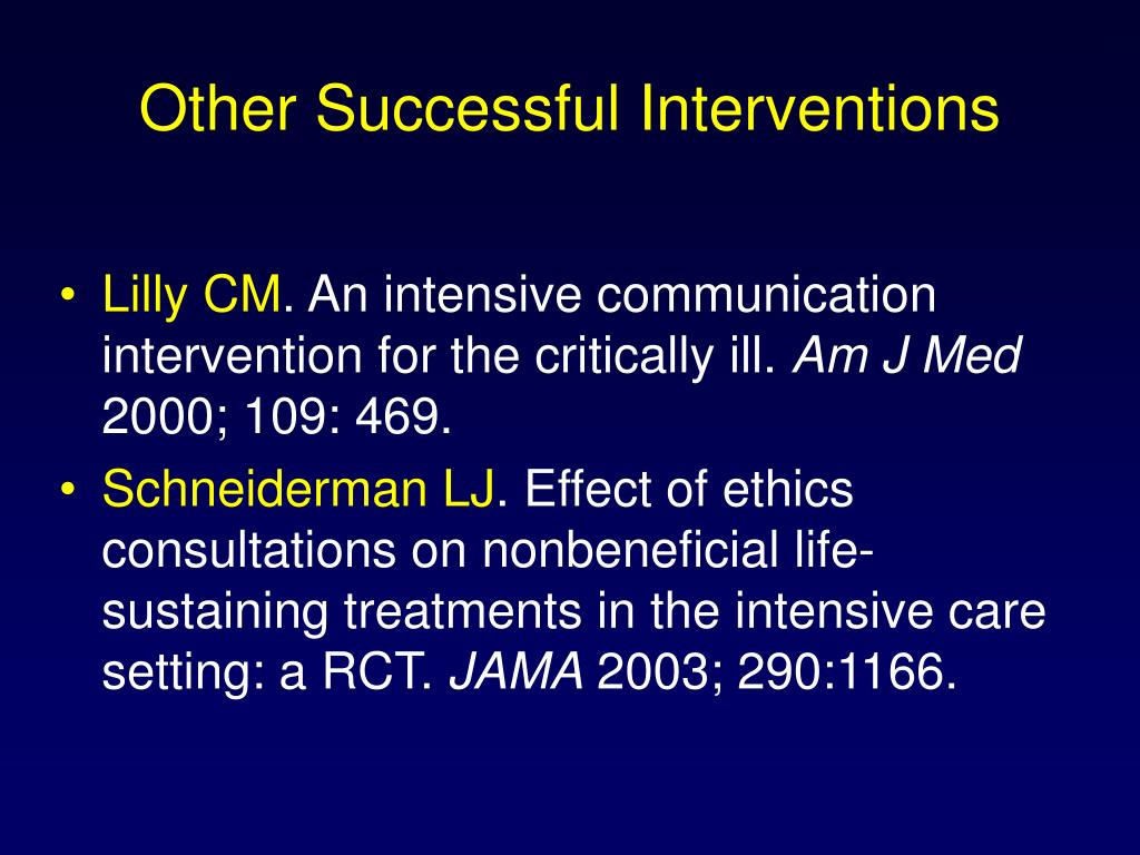 Other Successful Interventions