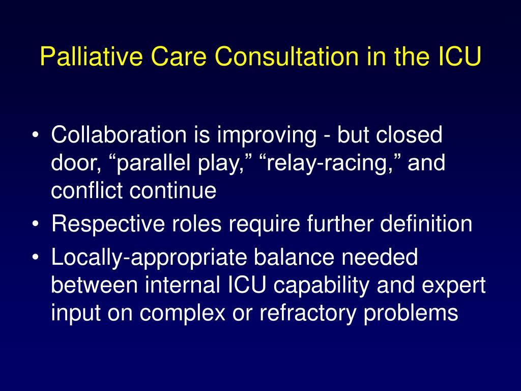 Palliative Care Consultation in the ICU