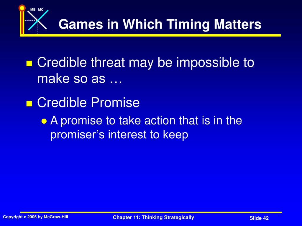 Games in Which Timing Matters