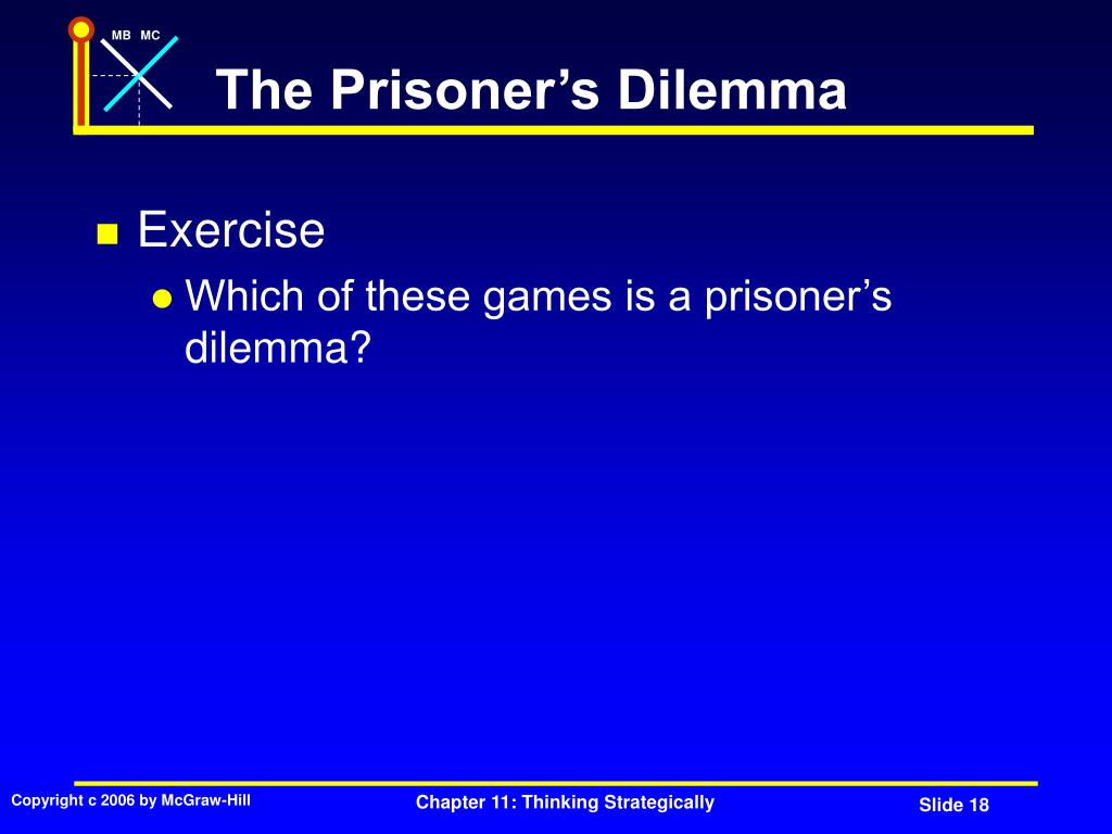 The Prisoner's Dilemma