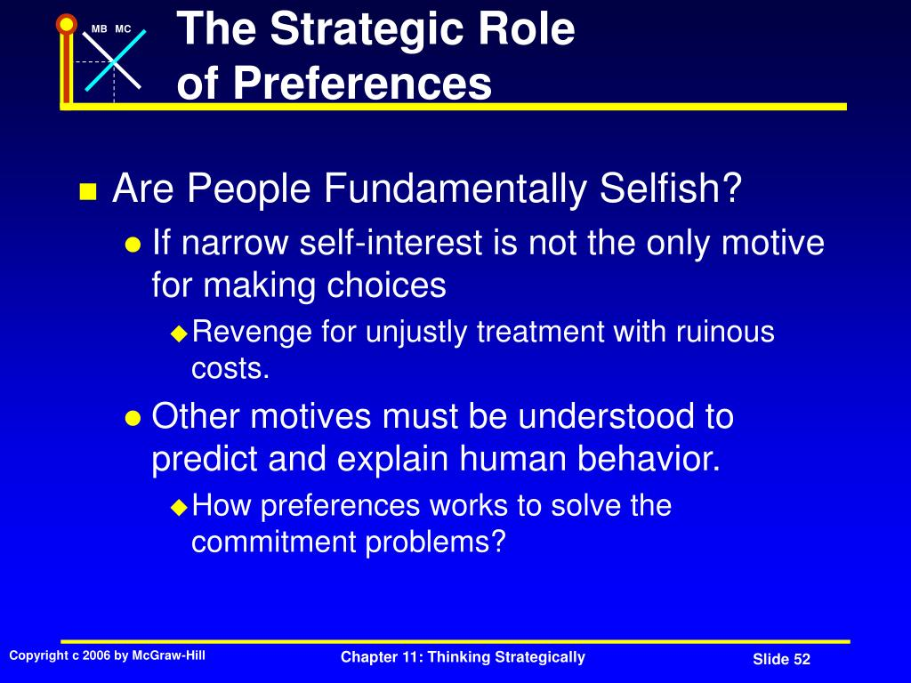 The Strategic Role