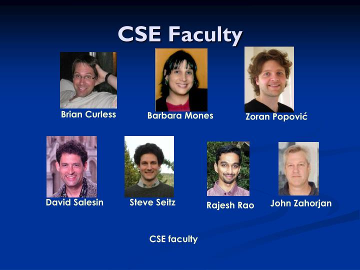 Cse faculty