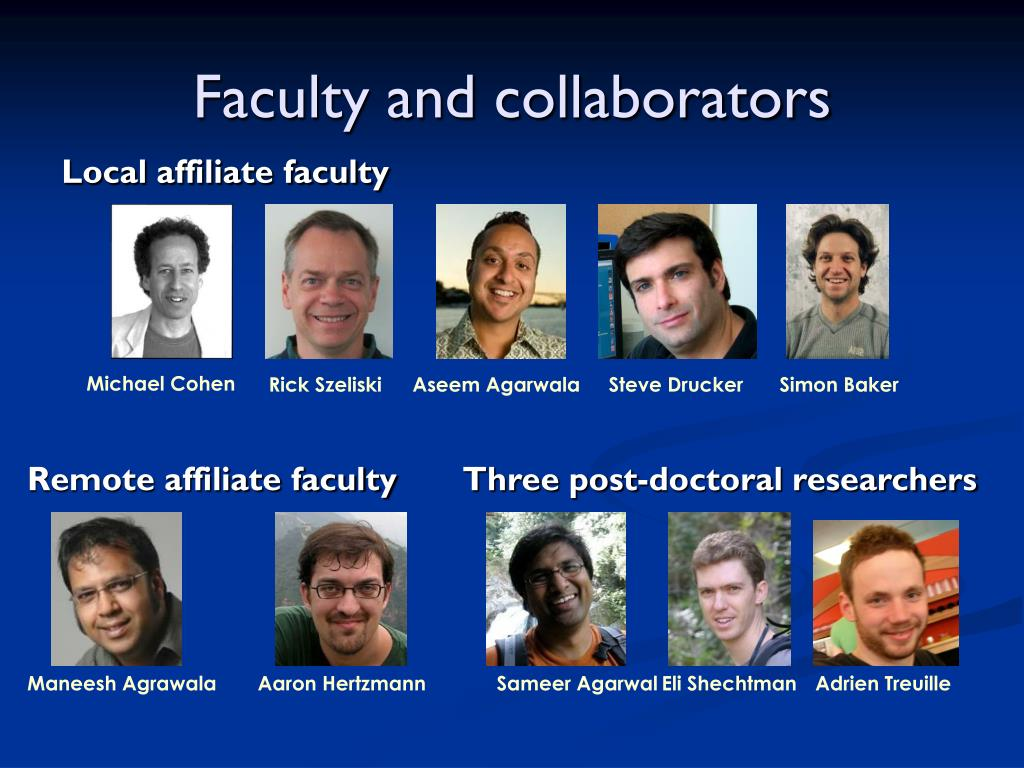 Faculty and collaborators