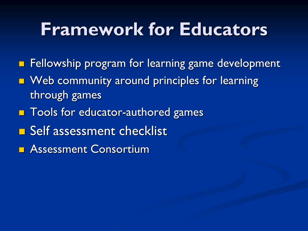 Framework for Educators