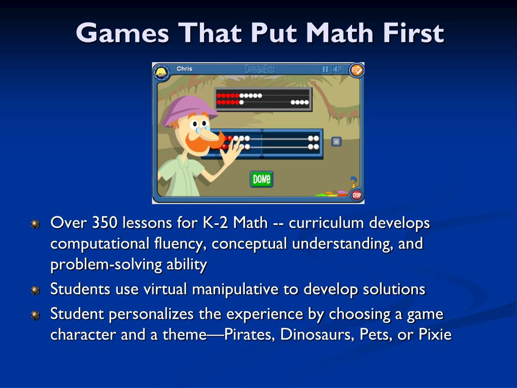 Games That Put Math First