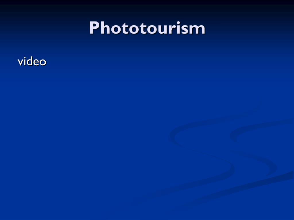 Phototourism