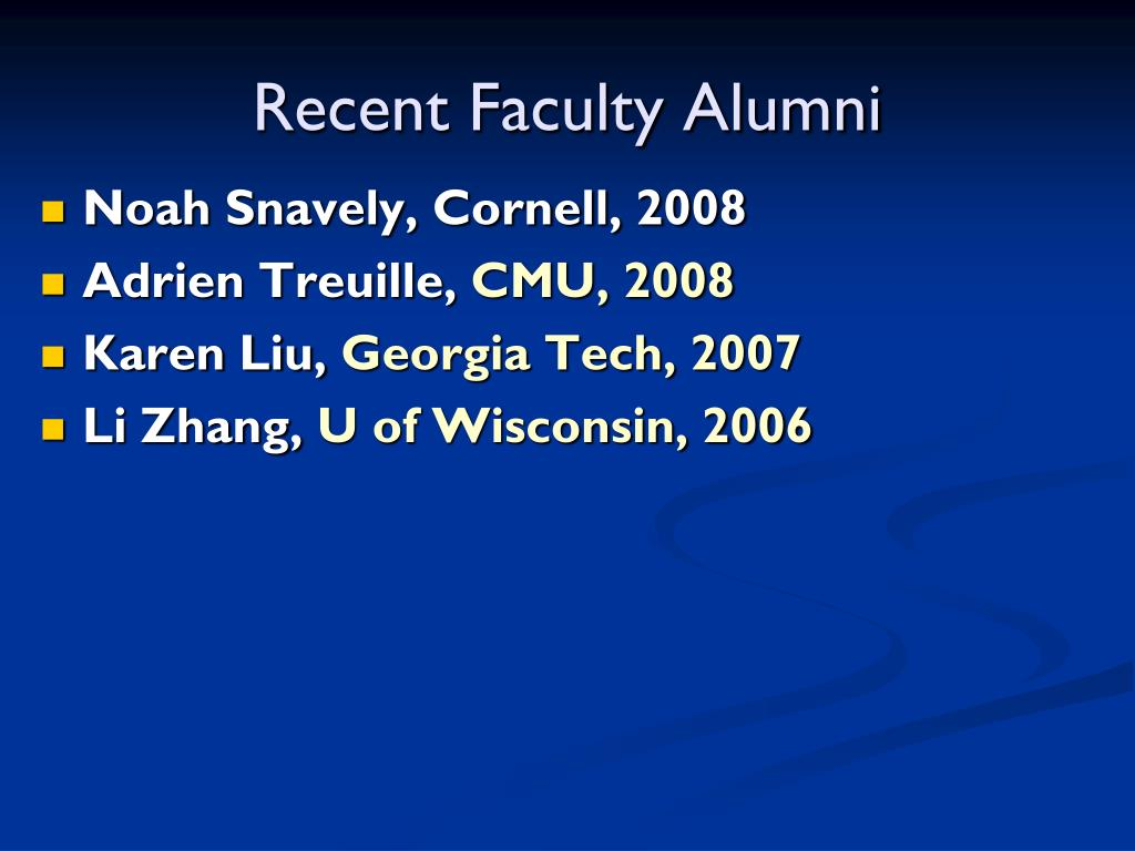 Recent Faculty Alumni