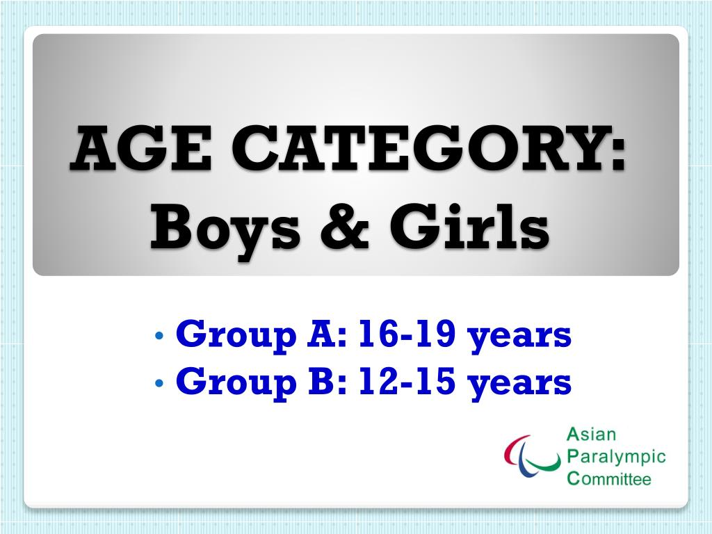 AGE CATEGORY: