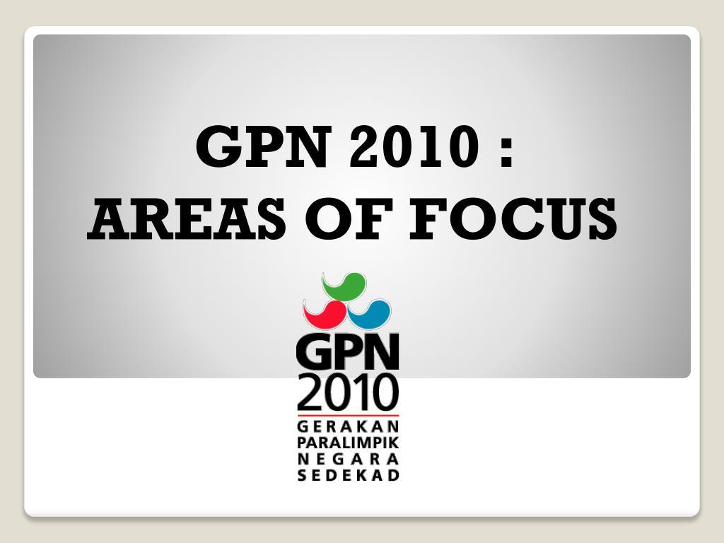 GPN 2010 :