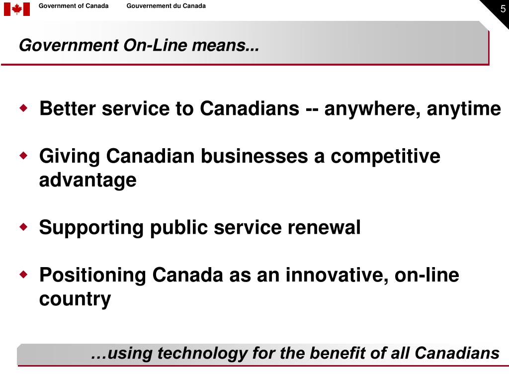 Better service to Canadians -- anywhere, anytime