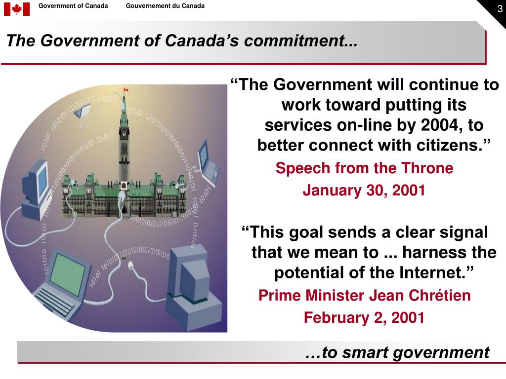 The Government of Canada's commitment...