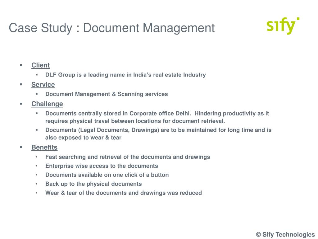 Case Study : Document Management