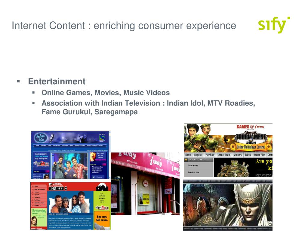 Internet Content : enriching consumer experience