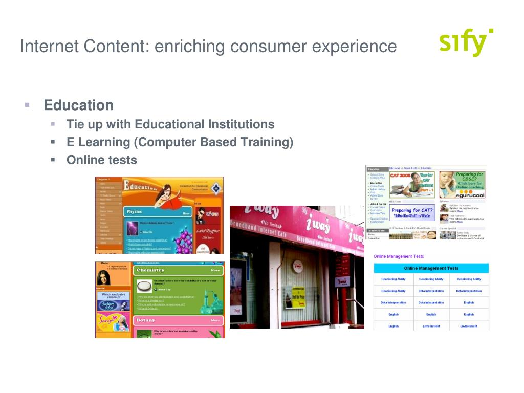 Internet Content: enriching consumer experience
