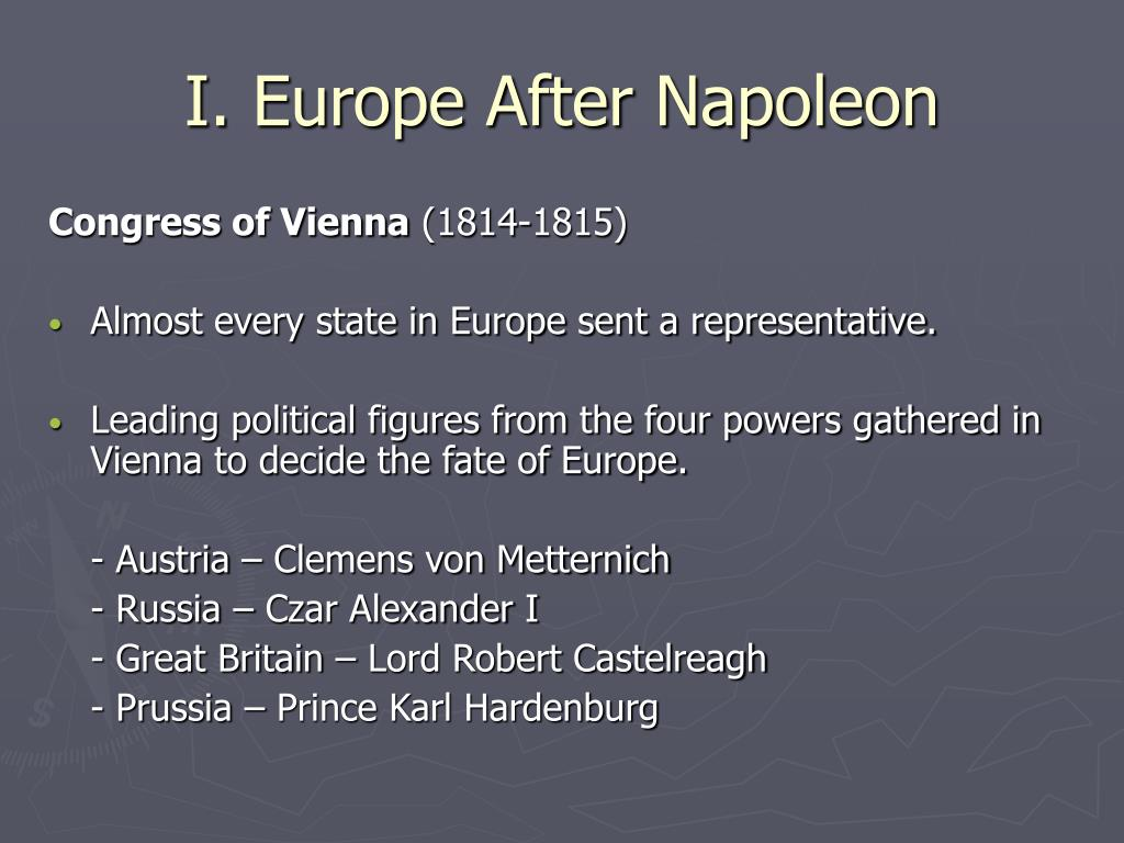 ideologies of europe between 1815 and A history of modern europe surveys european history from the defeat of napoleon to the twenty-first century,  the seedtime of modern ideologies, 1815–40 17.