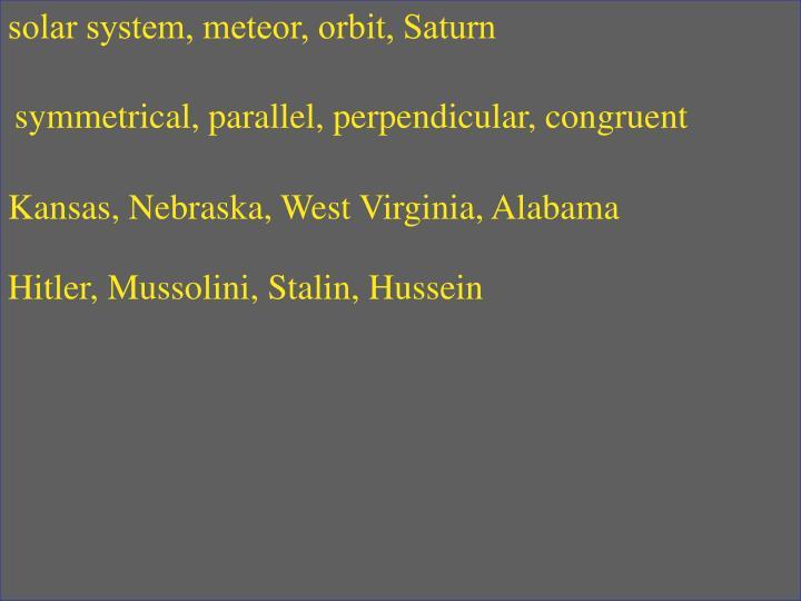 solar system, meteor, orbit, Saturn