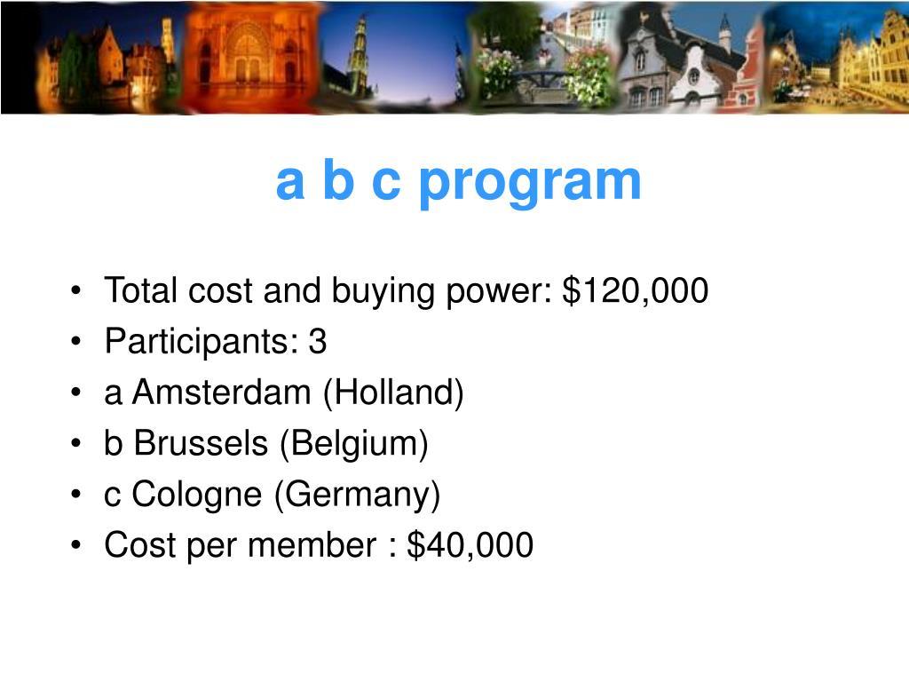 a b c program