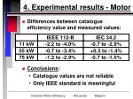 4 experimental results motor12