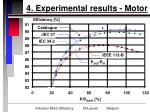 4 experimental results motor14