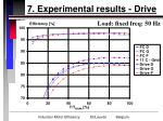 7 experimental results drive29