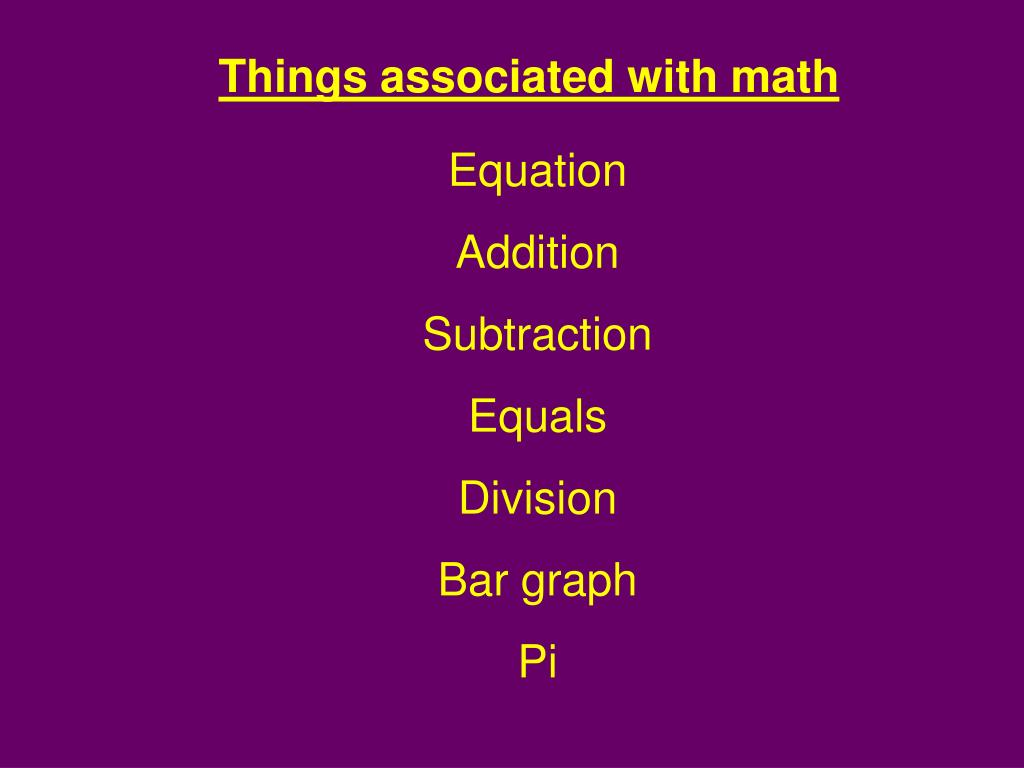 Things associated with math