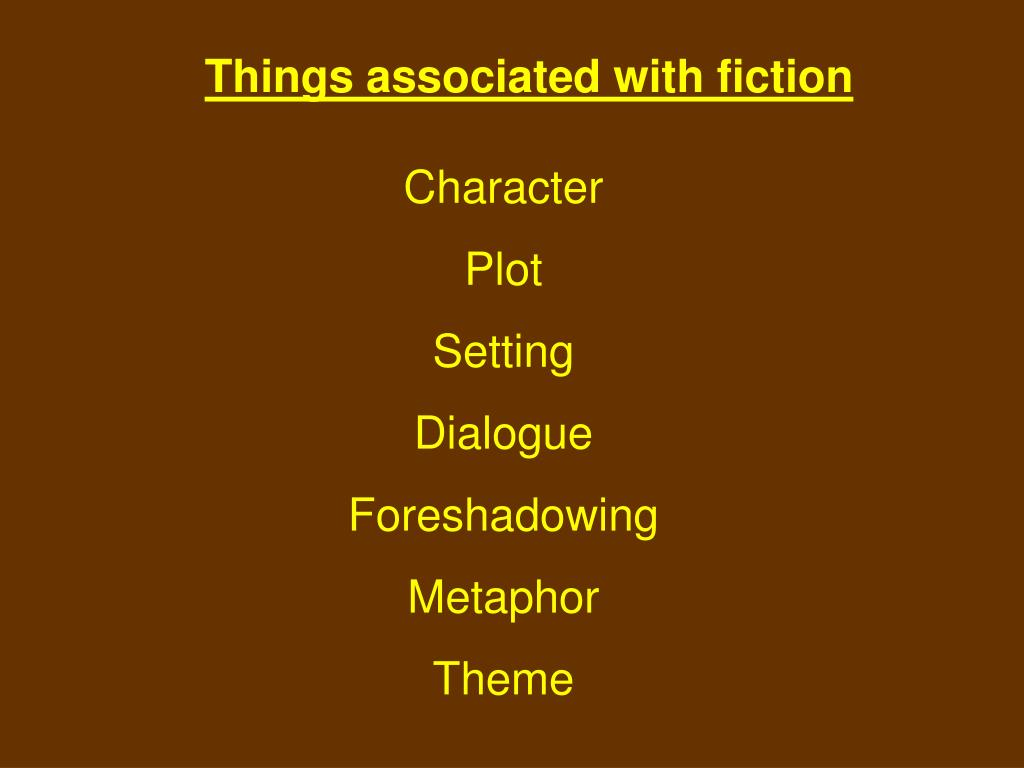 Things associated with fiction
