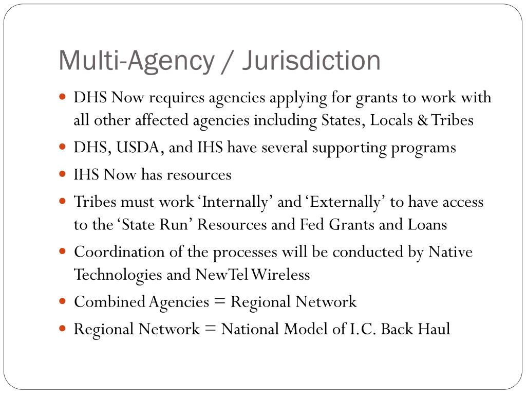 Multi-Agency / Jurisdiction