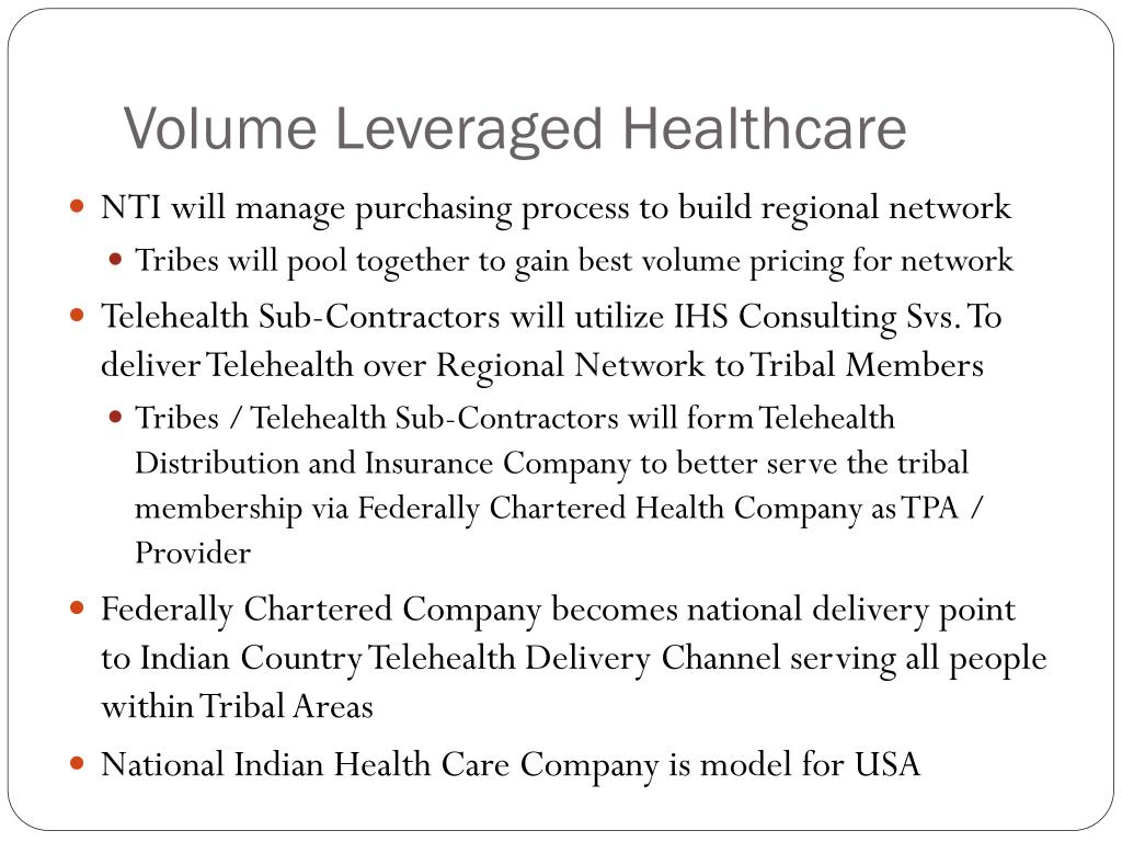 Volume Leveraged Healthcare