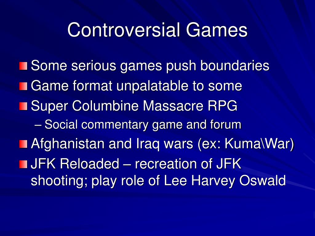 Controversial Games