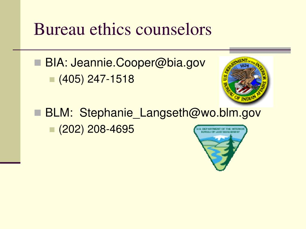 Bureau ethics counselors