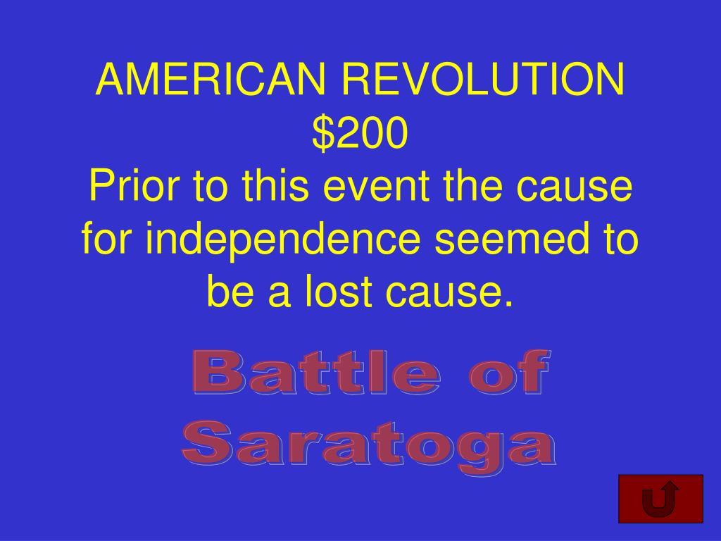 AMERICAN REVOLUTION $200