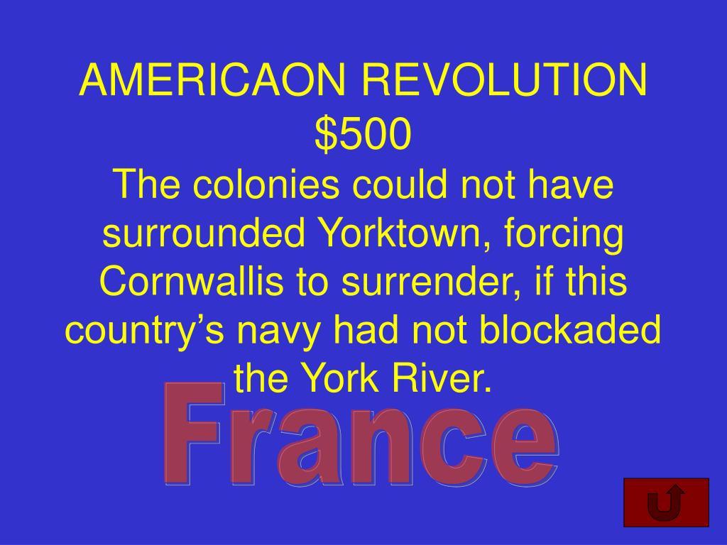 AMERICAON REVOLUTION $500