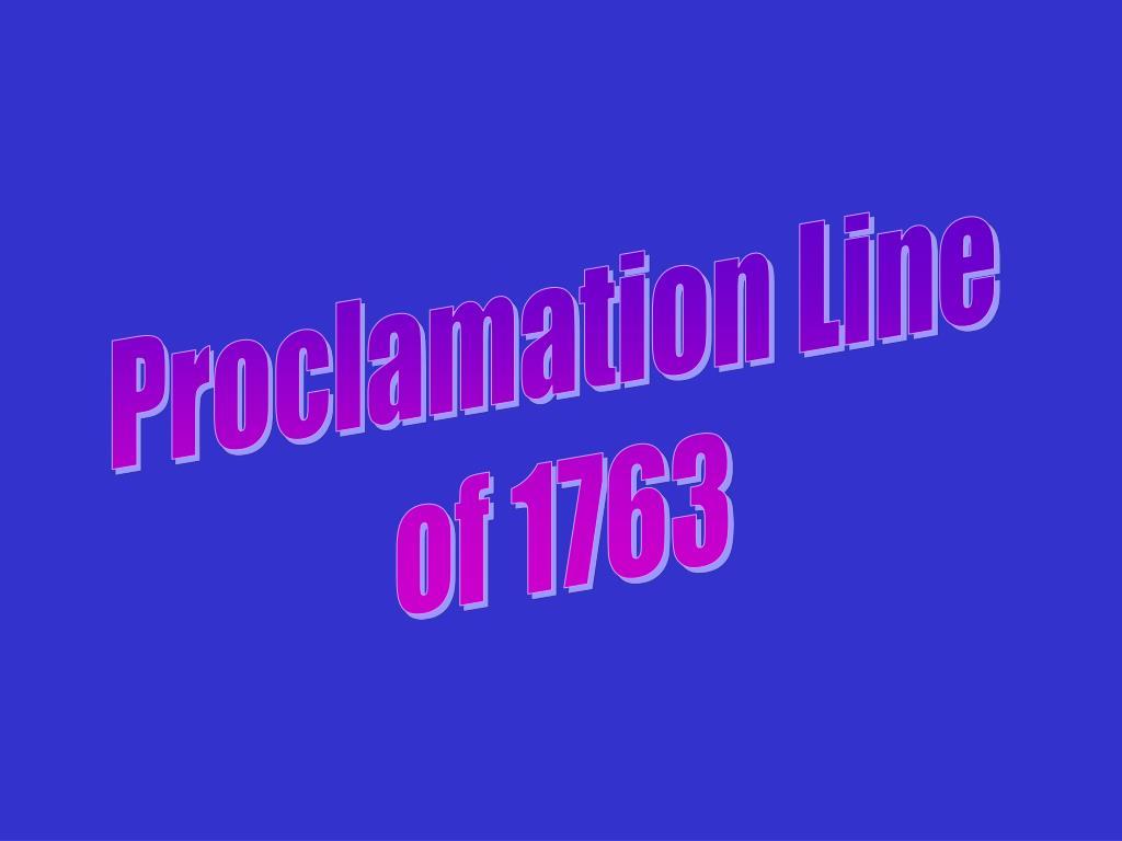 Proclamation Line