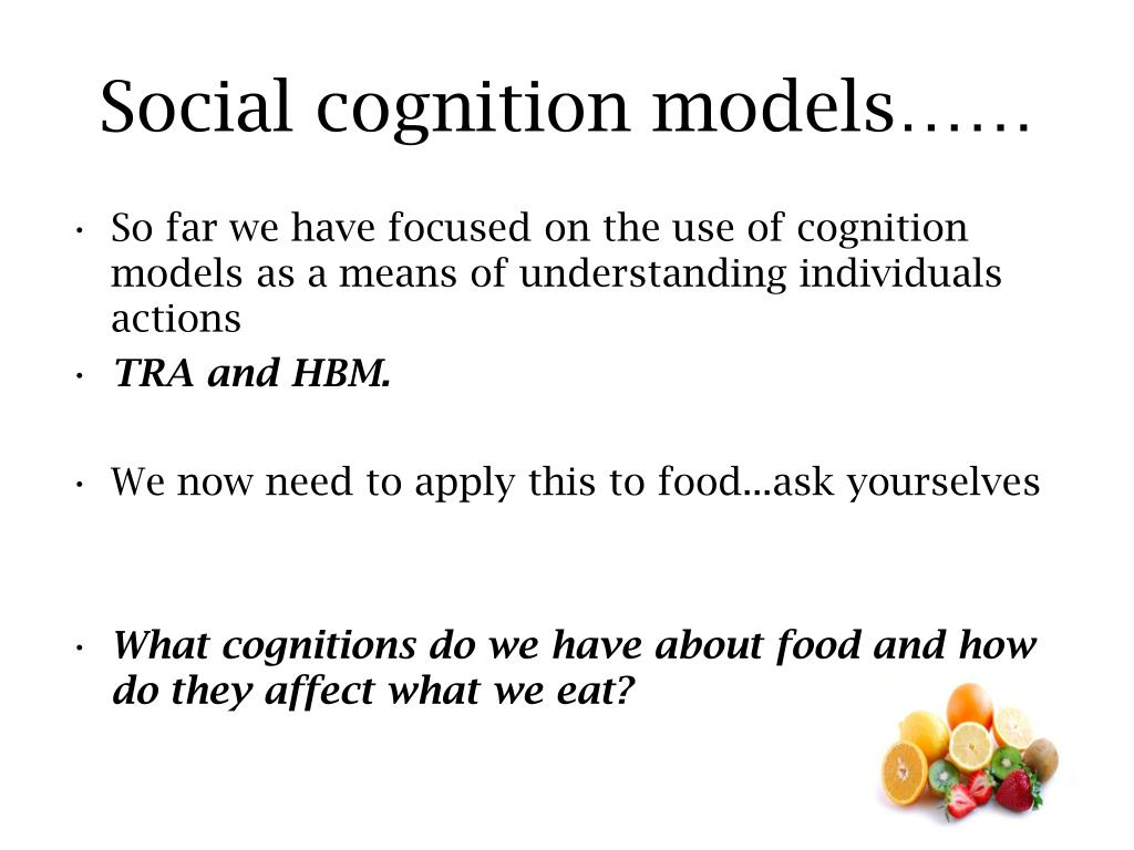 social cognition and health belief behaviours Social cognitive theory (sct),  in health communication, social cognitive theory has been applied in research related to smoking quit,  social cognition.