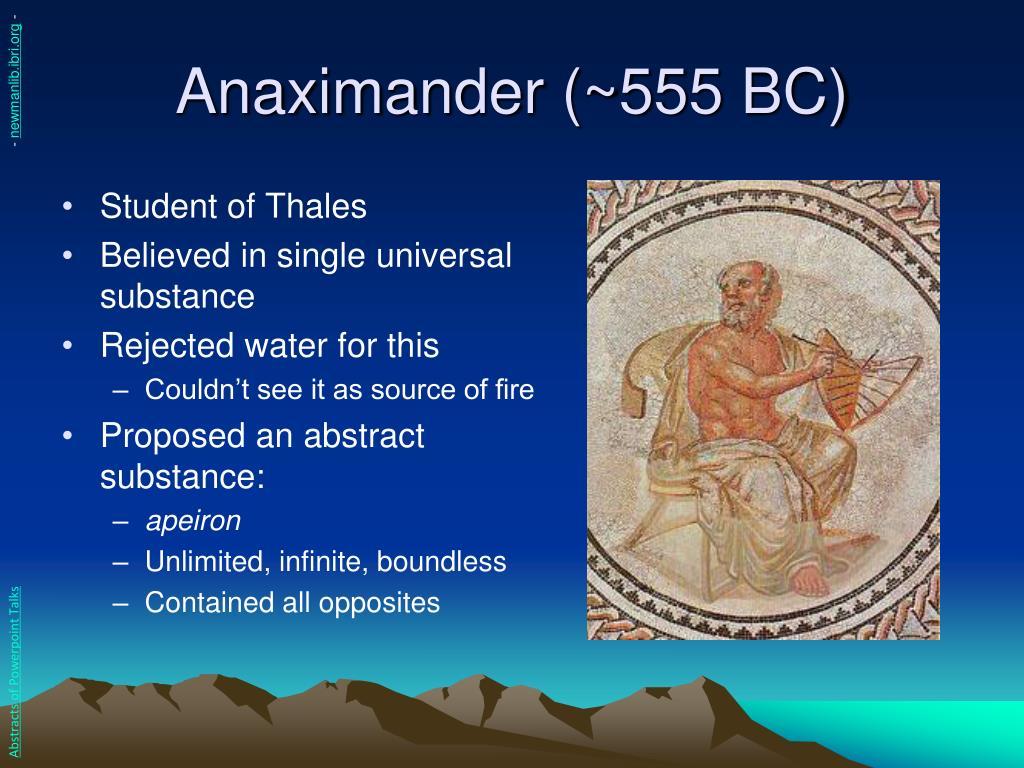 Anaximander (~555 BC)
