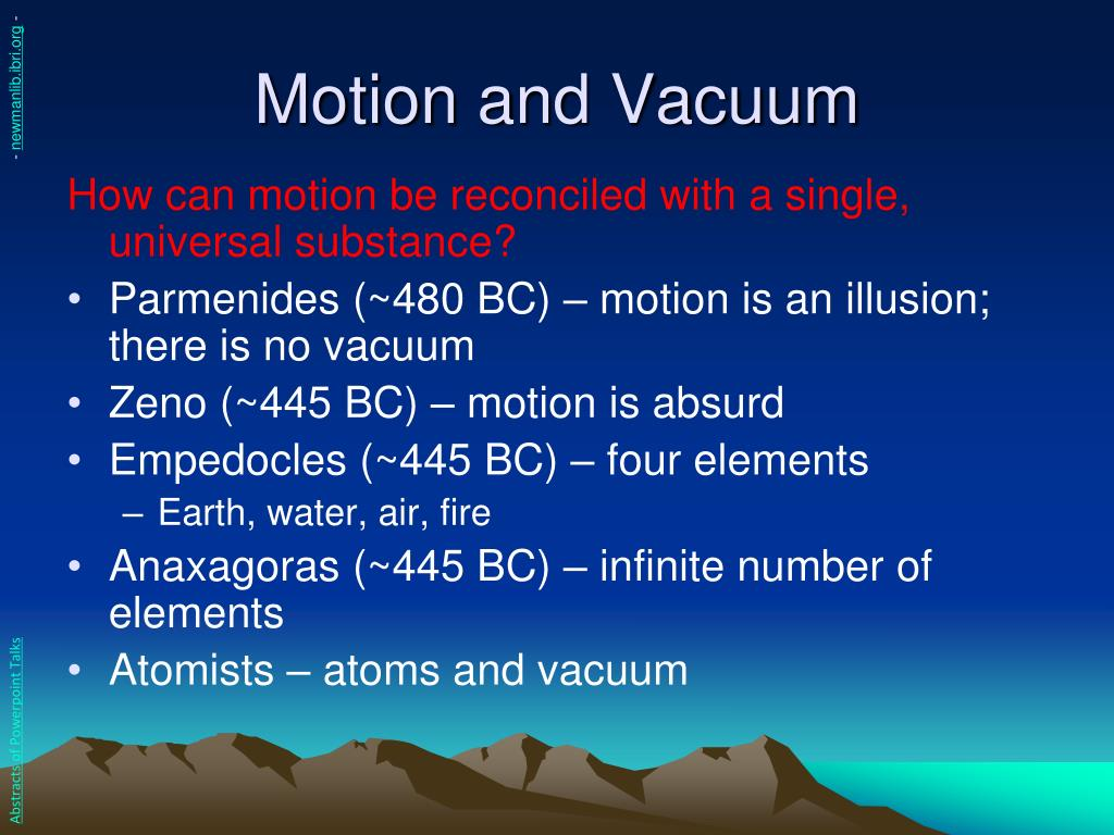 Motion and Vacuum