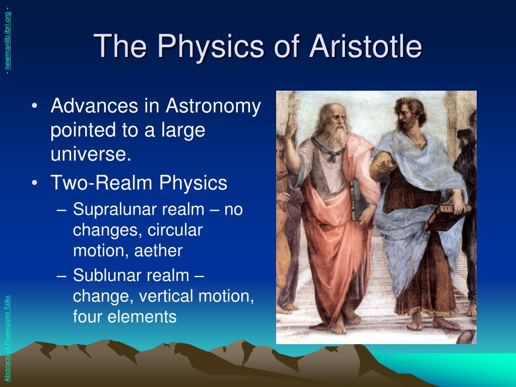 The Physics of Aristotle