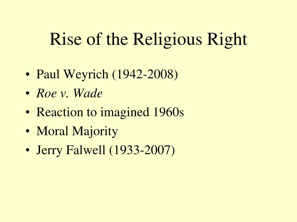 Rise of the Religious Right