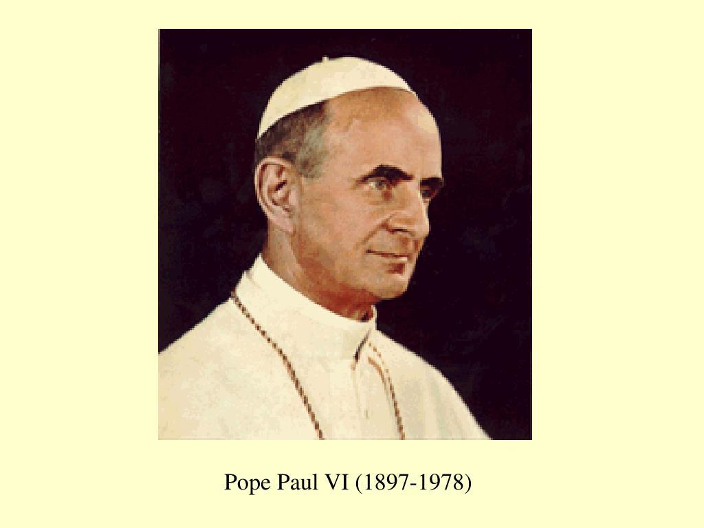 Pope Paul VI (1897-1978)